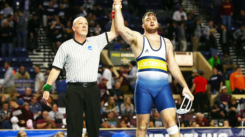 Wesneski wins National Wrestling Title.