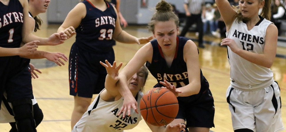 Sayre tops Athens, 31-27, in defensive struggle.