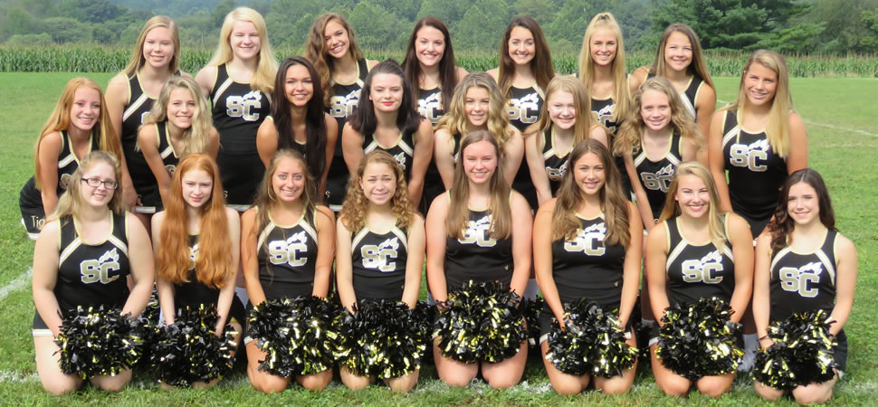 Southern Columbia Tigers Football Cheerleading Squad