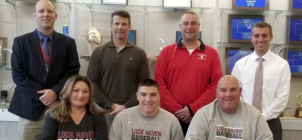 Zeiders signs with Lock Haven baseball.