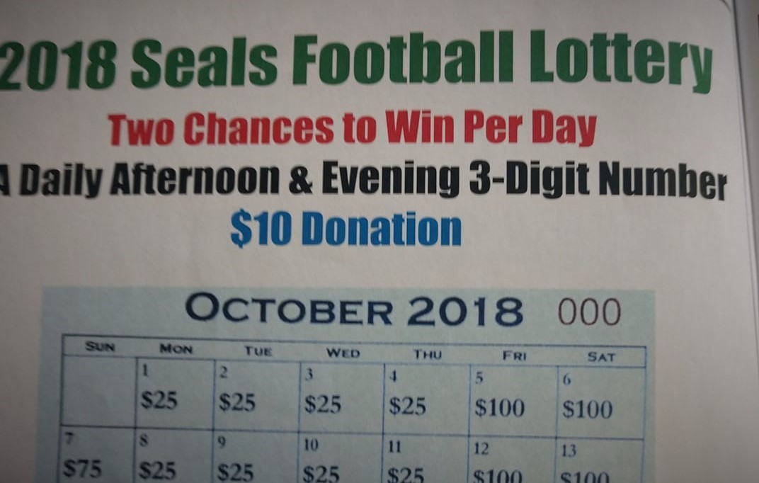 2018 Seals Football Lottery Tickets Now Available