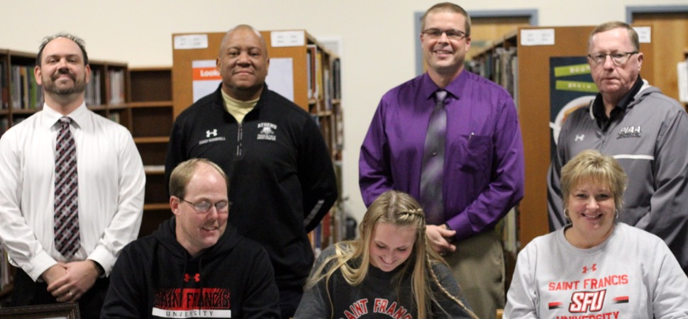 Athens senior Lunger signs with Division 1 St. Francis.