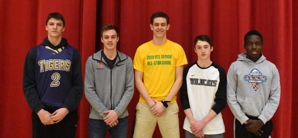 2018-19 NTL Large School Boys Basketball All-Stars announced.