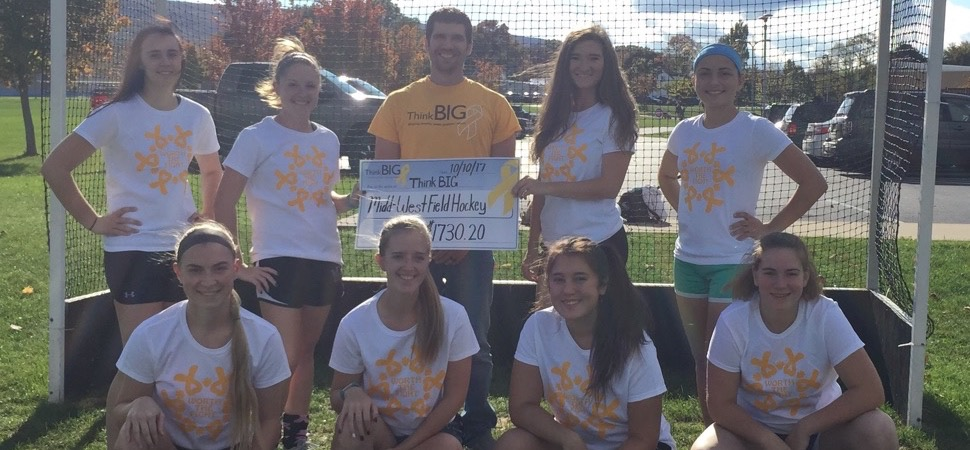 Midd-West field hockey raises awareness for pediatric cancer.