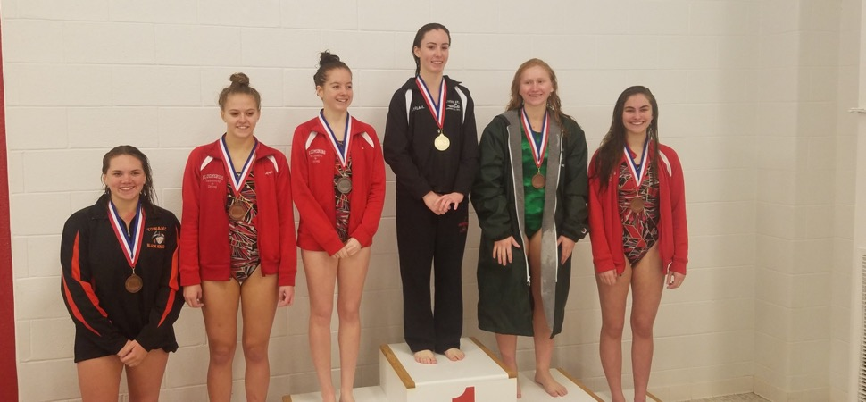 District diving results.