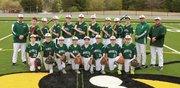 2017 Wellsboro Hornets Middle School Baseball Roster