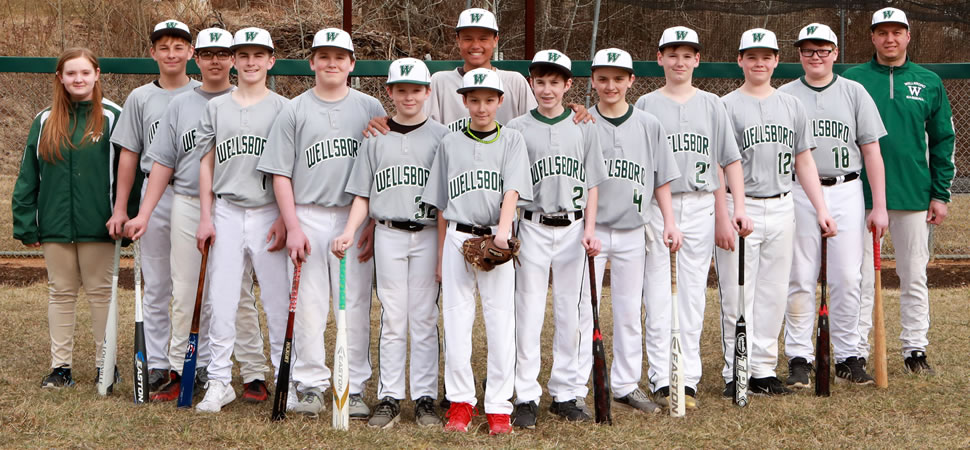 2019 Wellsboro Hornets Middle School Baseball Roster