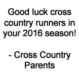 Good Luck XC Team!