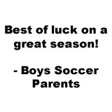 2017 Boy Soccer Good Luck