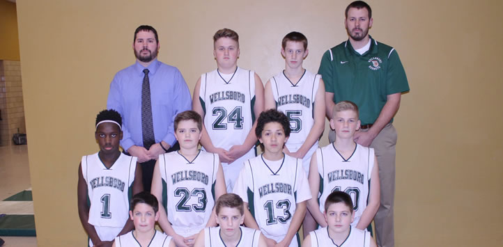 2017 Wellsboro Middle School Boys Basketball Team