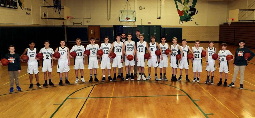 2017 Wellsboro Middle School Boys Basketball Team