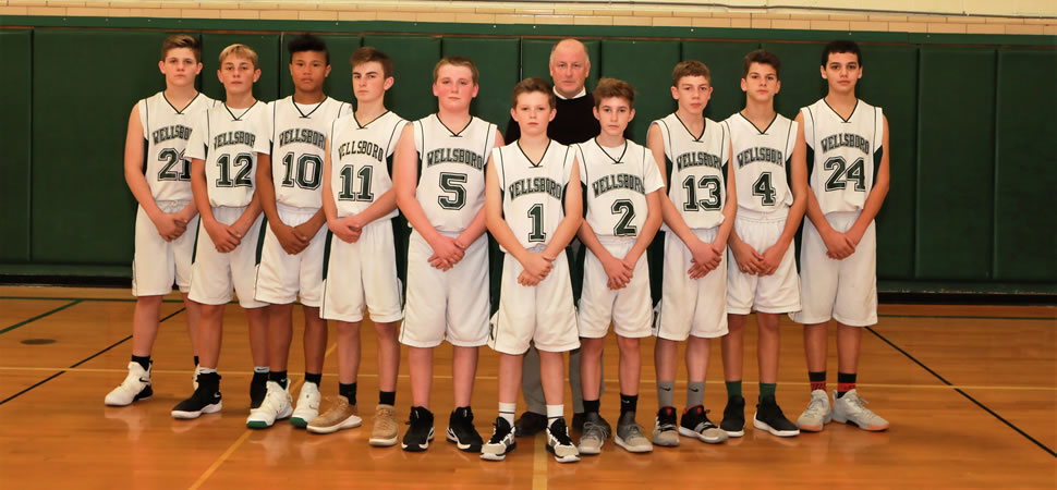 2018 Wellsboro Hornets Middle School Boys Basketball Roster