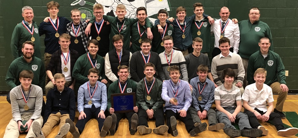 Boys Soccer team holds annual banquet.