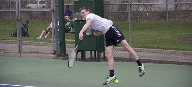 Boys tennis picks up first wins of season.