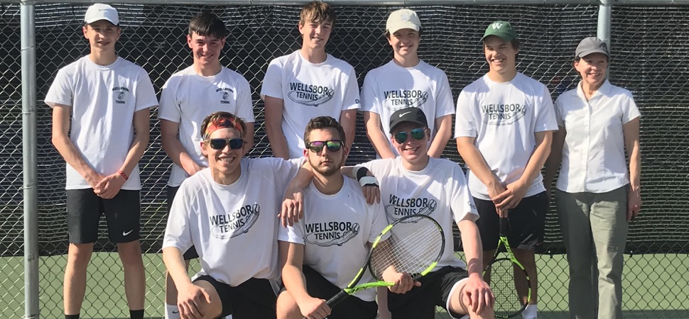 Hornets top Hughesville 3-0 in District Tennis Quarterfinals.