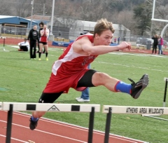 2014 Troy vs. Athens and North Penn Boys Track
