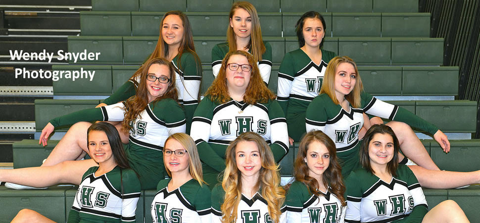 2017 Wellsboro Boys Basketball Cheerleading Squad