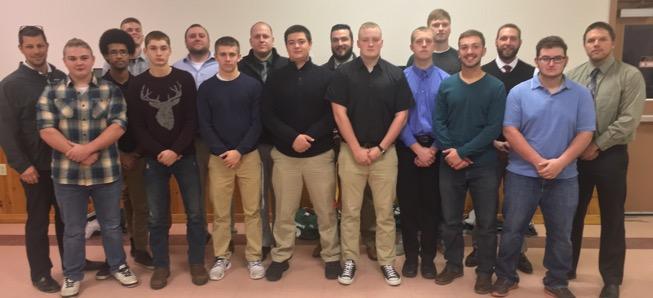 Gridders Club honors 2016 senior football class.