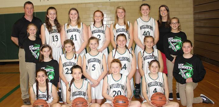 2016 Wellsboro Hornets Middle School Girls Basketball Roster