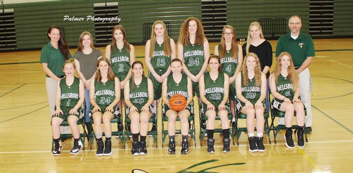 2016 Wellsboro Hornets Varsity Girls Basketball Roster