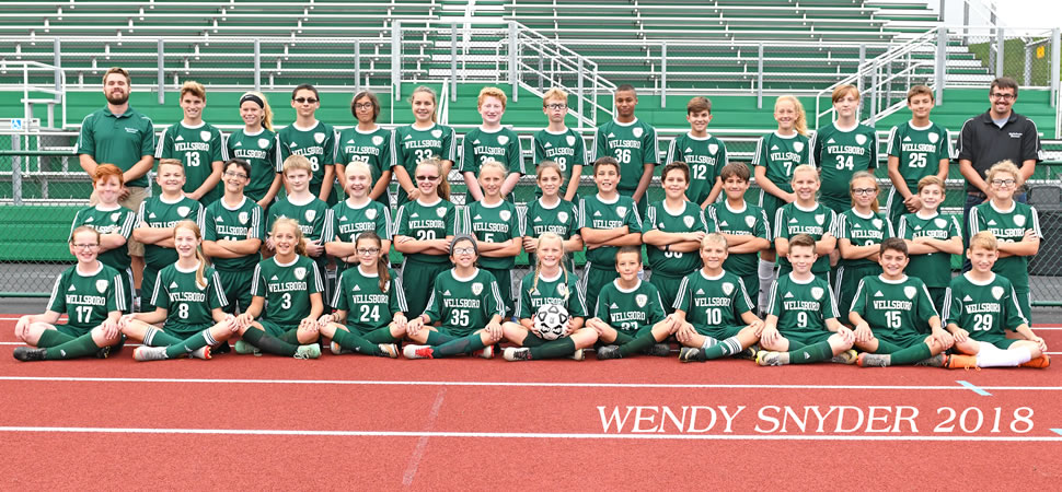 2018 Wellsboro Middle School Girls Soccer Team