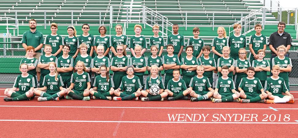 2018 Wellsboro Hornets Middle School Girls Soccer Roster
