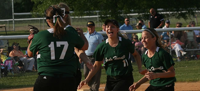 Queen Bees: Lady Hornets capture District IV AA crown.