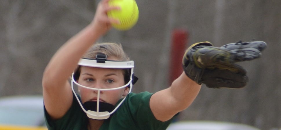 Lady Hornets shutout Sayre on Clymer's no-hitter.