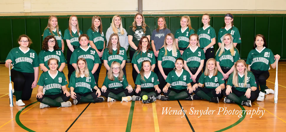 2019 Wellsboro Hornets Middle School Softball Roster