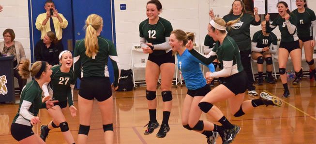 Lady Hornets top Wyalusing 3-1 to win District IV title.