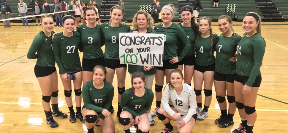 Zuchowski claims 100th career win as Lady Hornets sweep Wyalusing.