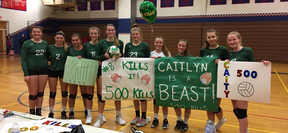 Callahan records 500th career kill as Lady Hornets sweep Sayre.