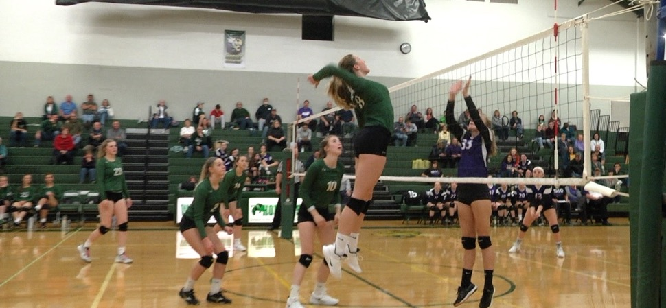 Lady Hornets sweep Coudersport on Senior Night.