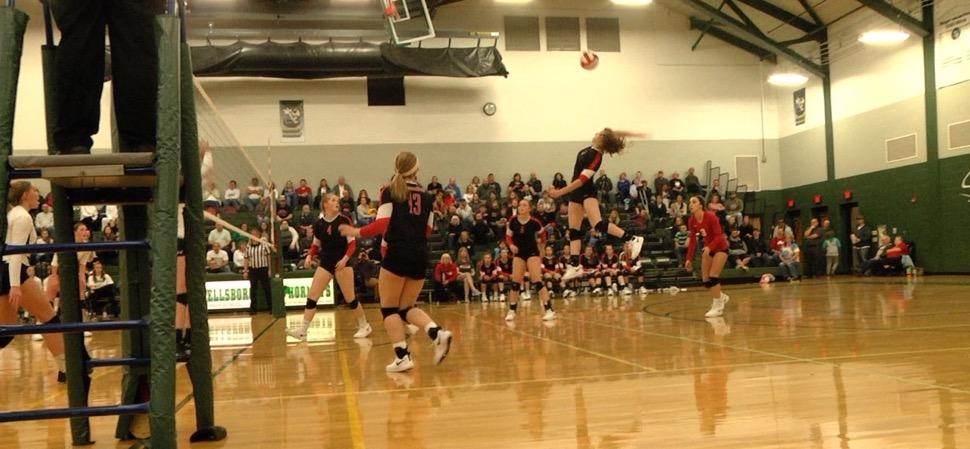 Liberty volleyball tops Wellsboro, 3-1.