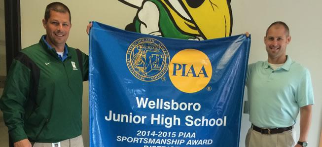 Middle School receives Sportsmanship Award.