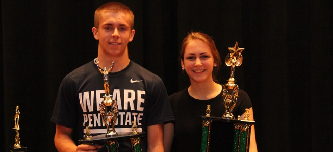 Lamphier, Davis named Athletes of the Year