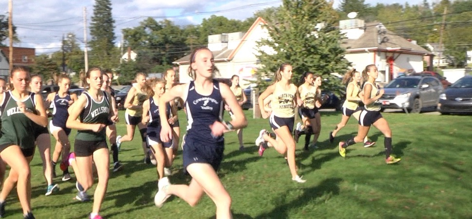 Wellsboro XC splits meets with Mansfield, CV.